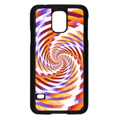 Woven Colorful Waves Samsung Galaxy S5 Case (black) by designworld65