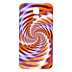 Woven Colorful Waves Samsung Galaxy S5 Back Case (White)