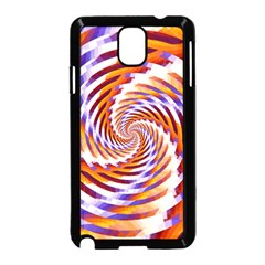 Woven Colorful Waves Samsung Galaxy Note 3 Neo Hardshell Case (black) by designworld65