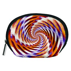 Woven Colorful Waves Accessory Pouches (Medium)