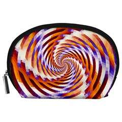 Woven Colorful Waves Accessory Pouches (large)  by designworld65