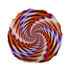 Woven Colorful Waves Standard 15  Premium Flano Round Cushions