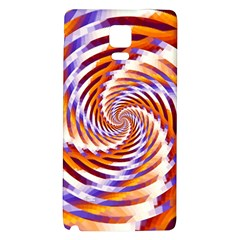 Woven Colorful Waves Galaxy Note 4 Back Case by designworld65