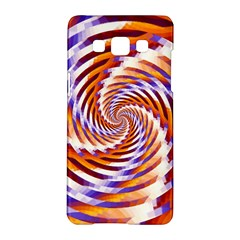 Woven Colorful Waves Samsung Galaxy A5 Hardshell Case  by designworld65