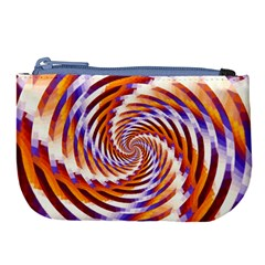 Woven Colorful Waves Large Coin Purse by designworld65