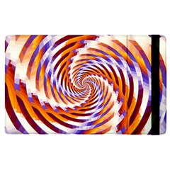 Woven Colorful Waves Apple Ipad Pro 12 9   Flip Case by designworld65