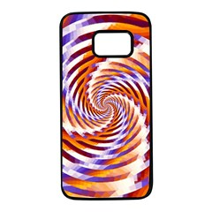 Woven Colorful Waves Samsung Galaxy S7 Black Seamless Case