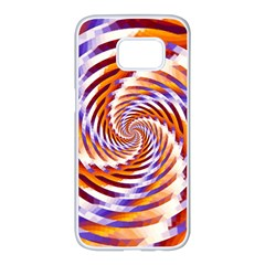 Woven Colorful Waves Samsung Galaxy S7 edge White Seamless Case