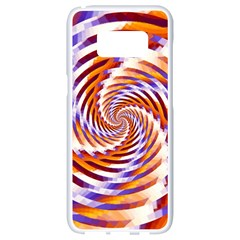 Woven Colorful Waves Samsung Galaxy S8 White Seamless Case by designworld65