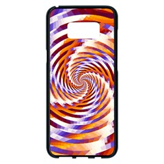 Woven Colorful Waves Samsung Galaxy S8 Plus Black Seamless Case