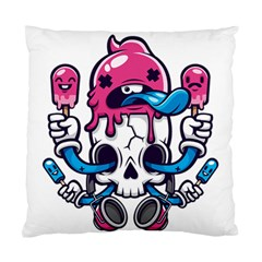 Ice Cream Skull Standard Cushion Case (one Side) by quirogaart