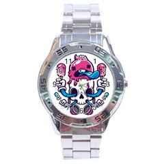 Ice Cream Skull Stainless Steel Analogue Watch by quirogaart