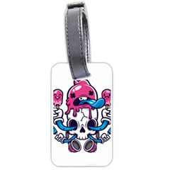 Ice Cream Skull Luggage Tags (one Side)  by quirogaart