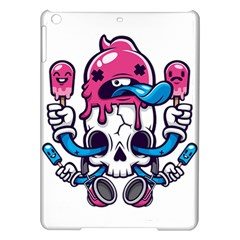 Ice Cream Skull Ipad Air Hardshell Cases by quirogaart
