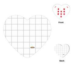 Pie Cooling On The Window Pane Pattern Playing Cards (heart)  by emilyzragz