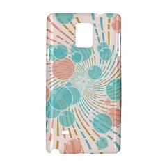 Bubbles Samsung Galaxy Note 4 Hardshell Case by linceazul