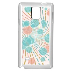 Bubbles Samsung Galaxy Note 4 Case (white) by linceazul