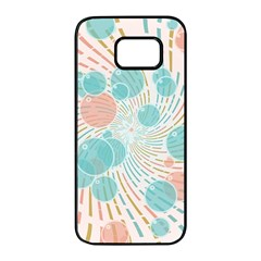 Bubbles Samsung Galaxy S7 Edge Black Seamless Case by linceazul