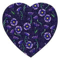 Floral Jigsaw Puzzle (heart)