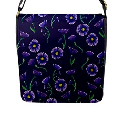 Floral Flap Messenger Bag (l)  by BubbSnugg