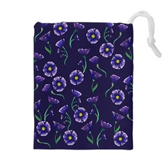 Floral Drawstring Pouches (extra Large)