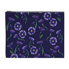 Floral Violet Purple Cosmetic Bag (xl) by BubbSnugg