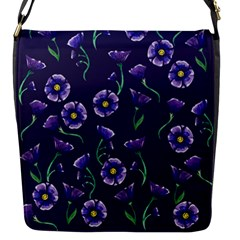 Floral Violet Purple Flap Messenger Bag (s) by BubbSnugg