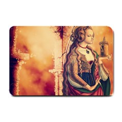 Fantasy Art Painting Magic Woman  Small Doormat  by paulaoliveiradesign