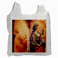Fantasy Art Painting Magic Woman  Recycle Bag (one Side) by paulaoliveiradesign