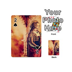 Fantasy Art Painting Magic Woman  Playing Cards 54 (mini)  by paulaoliveiradesign