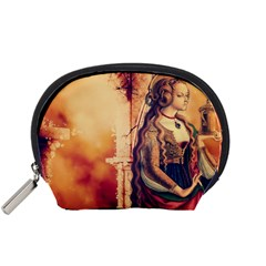 Fantasy Art Painting Magic Woman  Accessory Pouches (small)  by paulaoliveiradesign