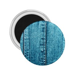 Denim Jeans Fabric Texture 2 25  Magnets by paulaoliveiradesign