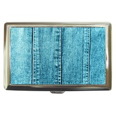 Denim Jeans Fabric Texture Cigarette Money Cases by paulaoliveiradesign