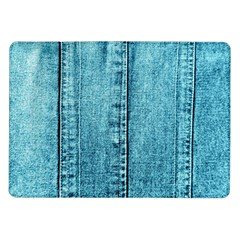 Denim Jeans Fabric Texture Samsung Galaxy Tab 10 1  P7500 Flip Case by paulaoliveiradesign