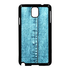 Denim Jeans Fabric Texture Samsung Galaxy Note 3 Neo Hardshell Case (black) by paulaoliveiradesign