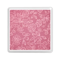 Floral Rose Flower Embroidery Pattern Memory Card Reader (square)  by paulaoliveiradesign
