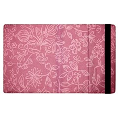 Floral Rose Flower Embroidery Pattern Apple Ipad 3/4 Flip Case by paulaoliveiradesign