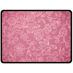 Floral Rose Flower Embroidery Pattern Double Sided Fleece Blanket (large)  by paulaoliveiradesign