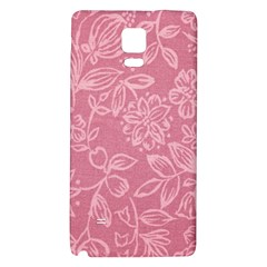 Floral Rose Flower Embroidery Pattern Galaxy Note 4 Back Case by paulaoliveiradesign