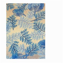 Fabric Embroidery Blue Texture Large Garden Flag (two Sides) by paulaoliveiradesign