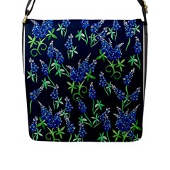 Bluebonnets Flap Messenger Bag (l)  by BubbSnugg