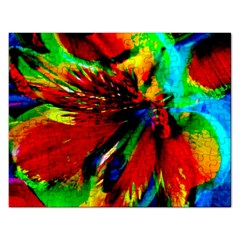 Flowers With Color Kick 1 Rectangular Jigsaw Puzzl by MoreColorsinLife