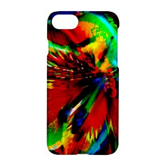 Flowers With Color Kick 1 Apple Iphone 7 Hardshell Case by MoreColorsinLife
