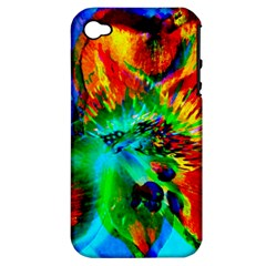 Flowers With Color Kick 2 Apple Iphone 4/4s Hardshell Case (pc+silicone) by MoreColorsinLife