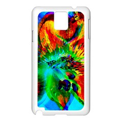 Flowers With Color Kick 2 Samsung Galaxy Note 3 N9005 Case (white) by MoreColorsinLife