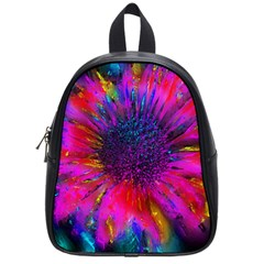 Flowers With Color Kick 3 School Bag (small) by MoreColorsinLife