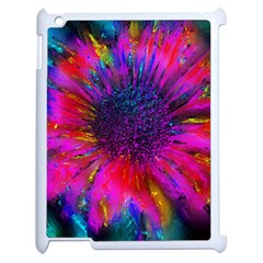 Flowers With Color Kick 3 Apple Ipad 2 Case (white) by MoreColorsinLife