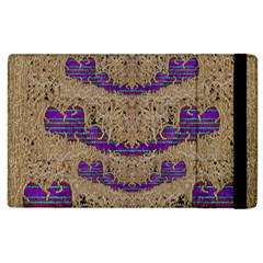 Pearl Lace And Smiles In Peacock Style Apple Ipad 2 Flip Case by pepitasart