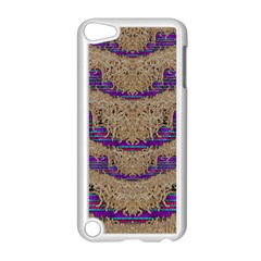 Pearl Lace And Smiles In Peacock Style Apple Ipod Touch 5 Case (white) by pepitasart