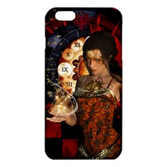 Steampunk, Beautiful Steampunk Lady With Clocks And Gears Iphone 6 Plus/6s Plus Tpu Case by FantasyWorld7